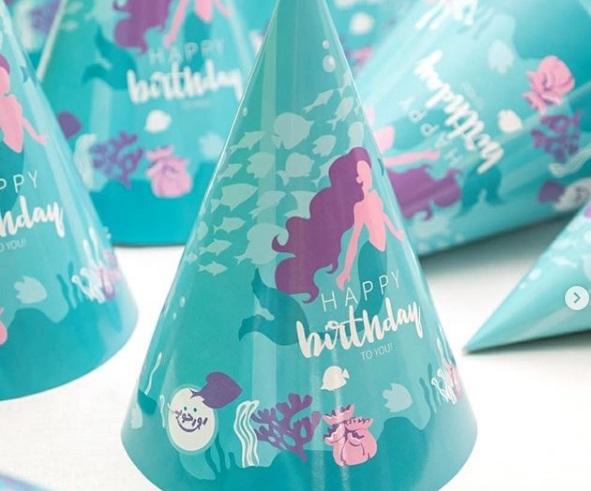کلاه تولد تم پری دریایی