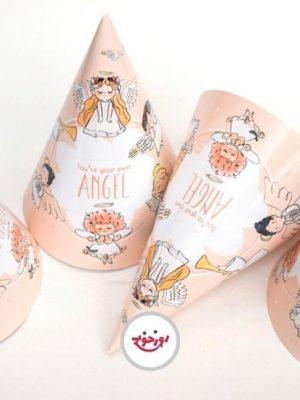 کلاه تولد تم فرشته های مهربون