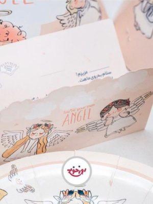 کارت دعوت تولد با تم فرشته های مهربون