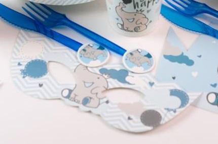 عینک تولد تم فیل آبی