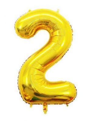 بادکنک فویلی عدد طلایی