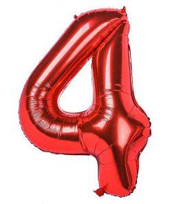 بادکنک فویلی عدد قرمز