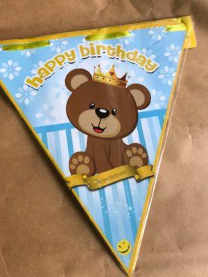 ریسه پرچمی تولد تم خرس کوچولو
