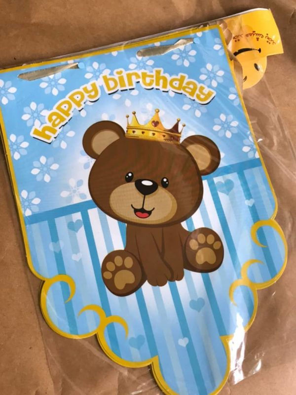 ریسه تولد تم خرس کوچولو