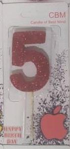 شمع اکلیلی عدد پنج