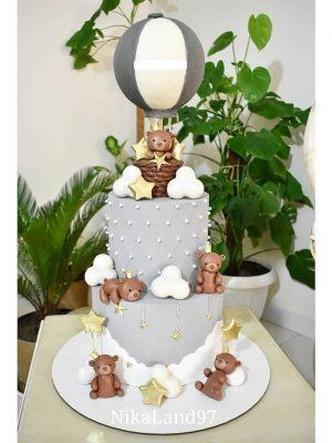 ماکت کیک خرس بالون سوار