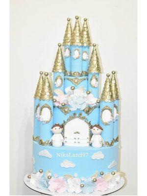 ماکت کیک قلعه پرنسسی آبی