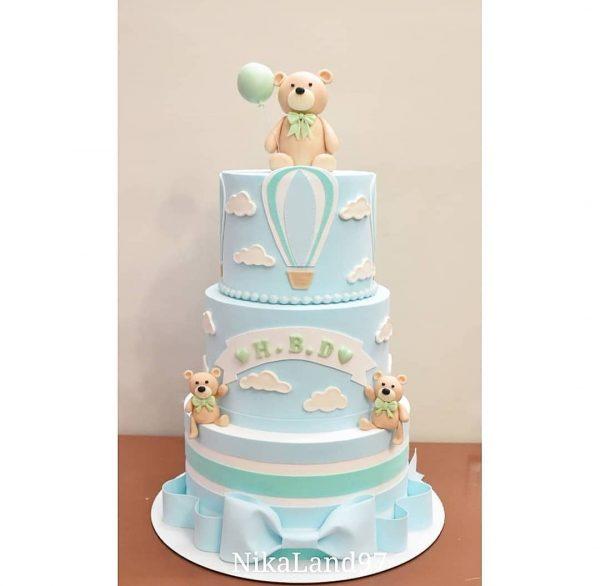 ماکت کیک خرسی آسمونی