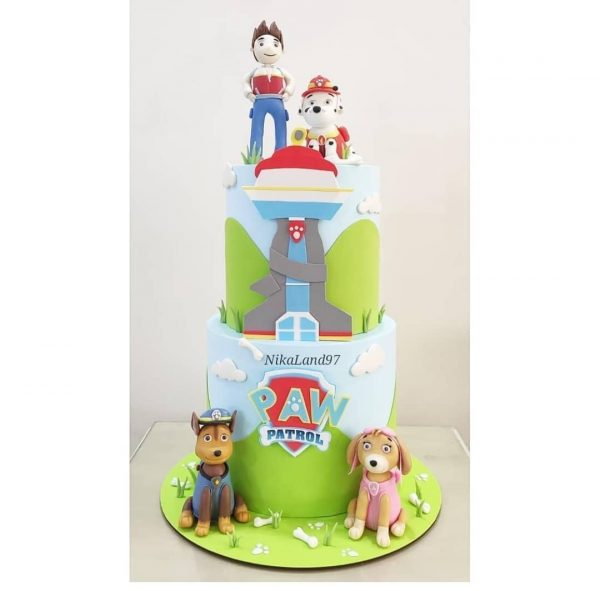 ماکت کیک سگ های نگهبان