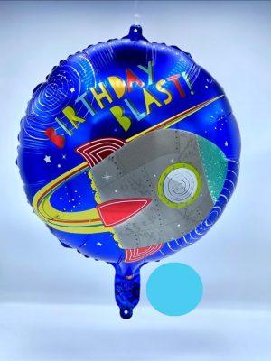 بادکنک فویلی آبی تم فضانورد