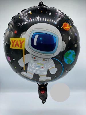 بادکنک فویلی گرد تم فضانورد