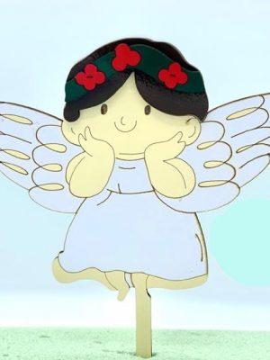 تاپر کیک فرشته تل دار
